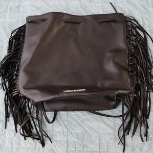 Fringe backpack purse